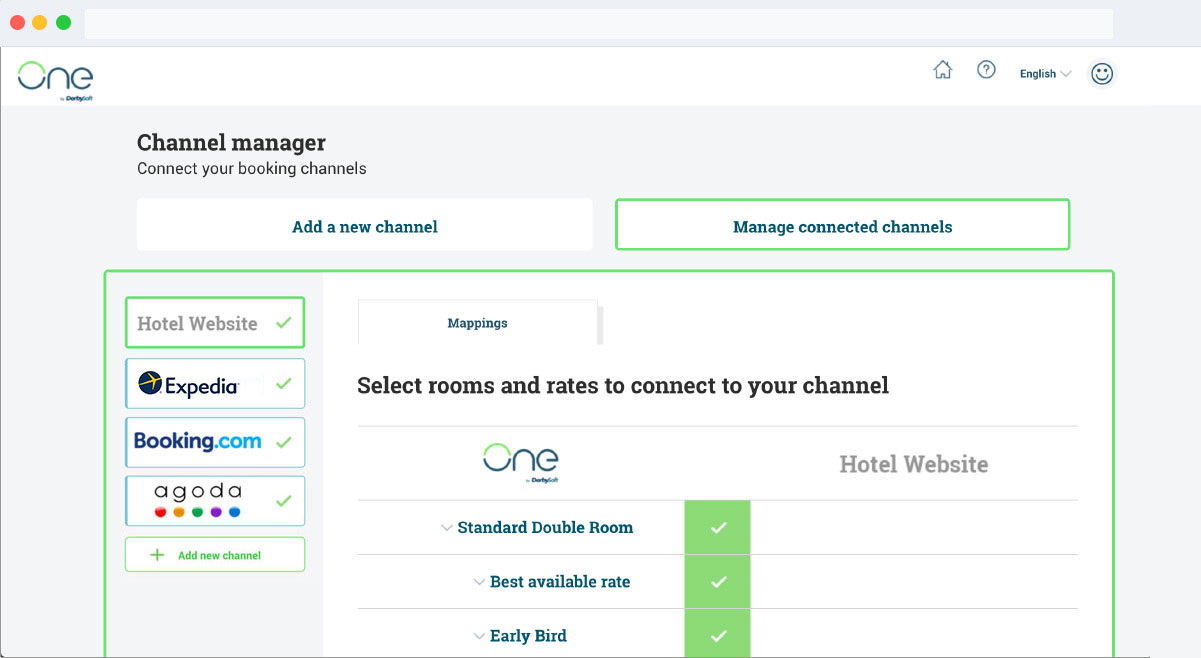 Channel Manager Screen